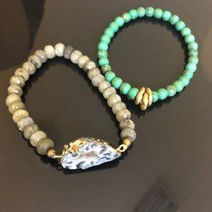 Jewelry - Natural Gem Stone Bracelets (two)